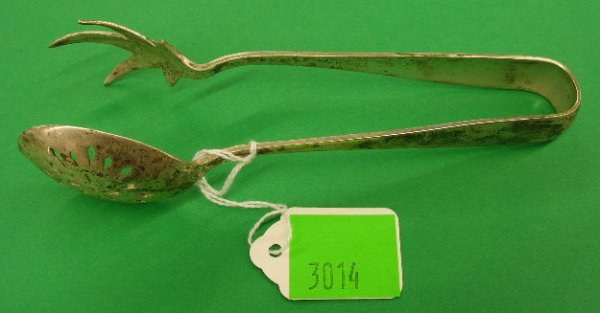 3014: Gorham sterling silver tongs