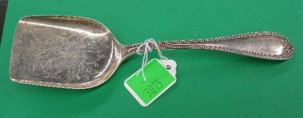3015: Bailey & Co. sterling silver serving shovel