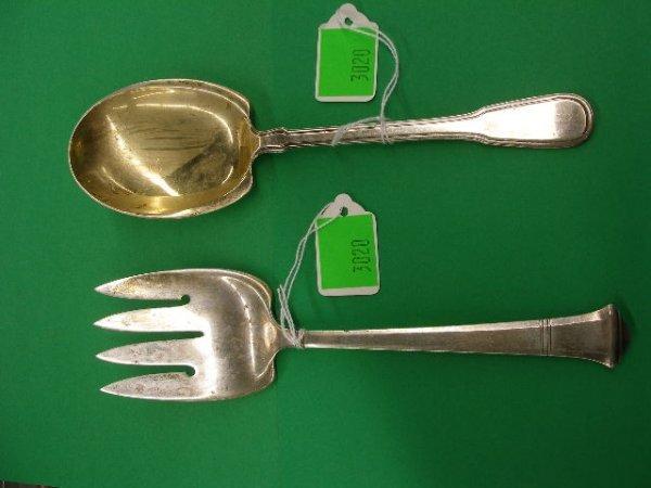 3020: Tiffany & Co. sterling silver spoon & fork