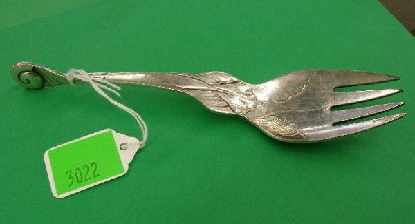 3022: Georg Jensen sterling silver fork