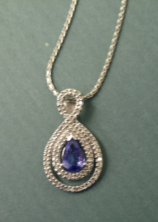 3248: 14k wg Pendant and chain