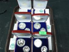 6 Israel 54th Anniv Volunteering Proof Coin Sets