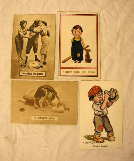 4003: 20th C. Baseball Theme Postcards