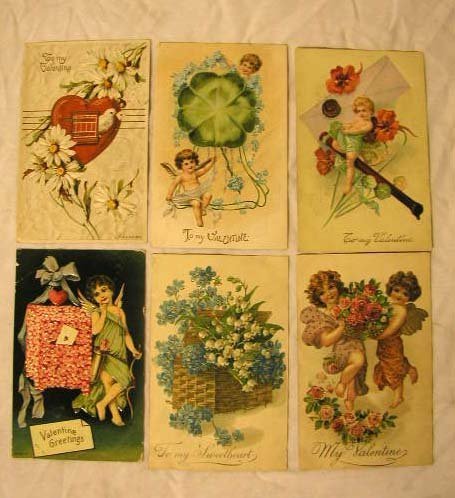 4009: Early 20th C. Valentines Postcards