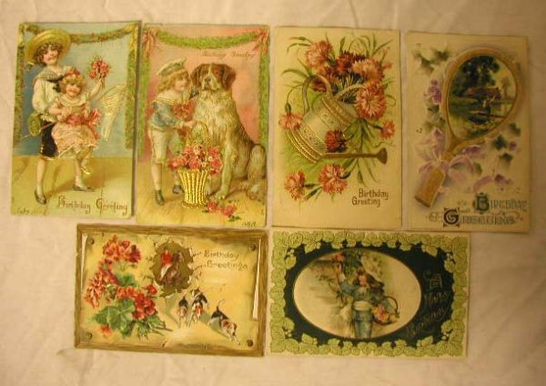 4011: Early 20th C. Birthday Postcards