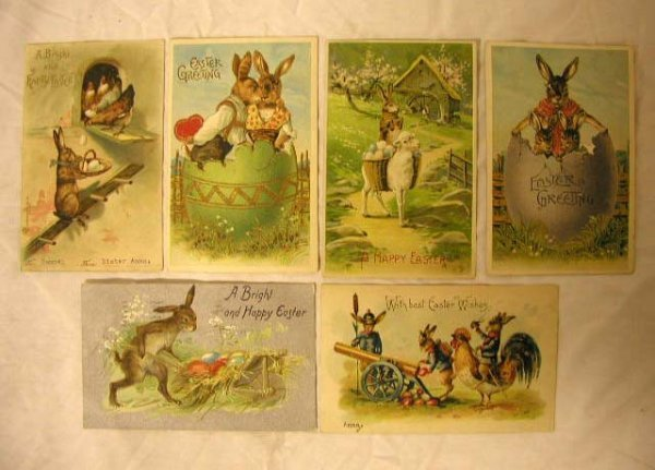 4012: Early 20th C. Easter Postcards