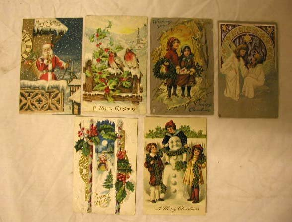 4013: Early 20th C. Christmas Postcards