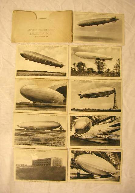 4014: 1940's Airship Photo Postcards