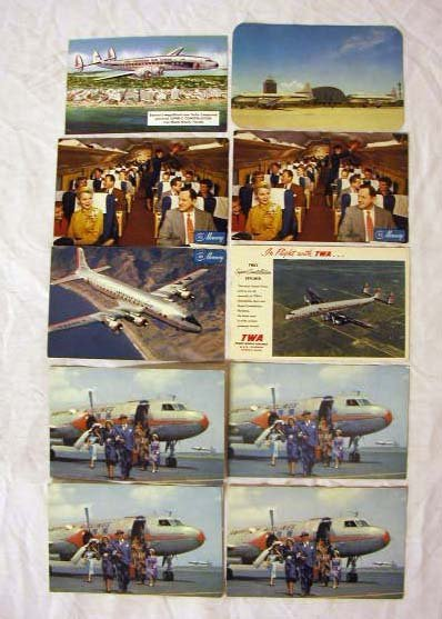 4015: 1950's Airline Postcards