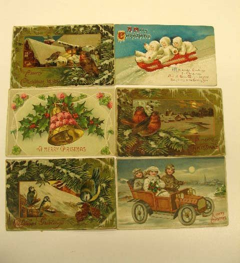 4017: Early 20th C. Christmas Postcards