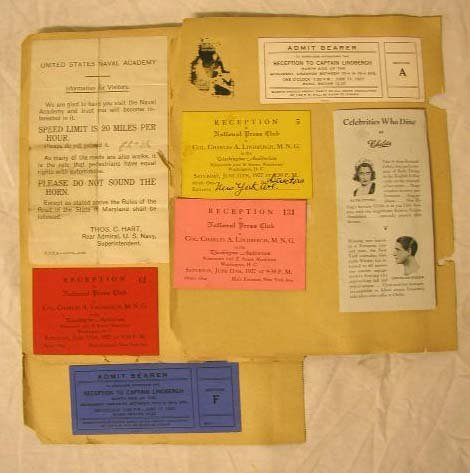 4022: 1927 Charles Lindbergh National Tour Tickets