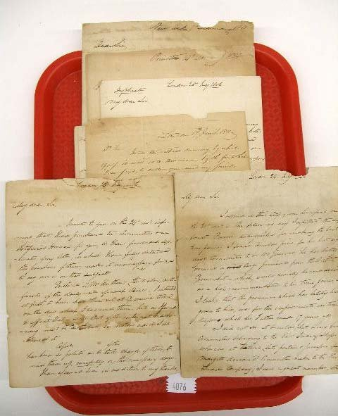 4076: 1806-11 Commodore William Bainbridge Letters