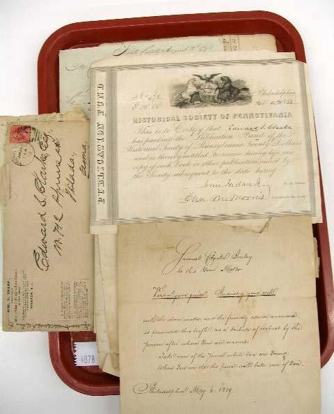 4078: 18th & 19th C. Clarke Family Correspondence