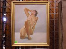 J Plank Signed Nude Painting