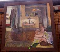 Large Contemporary Realist Oil on Canvas