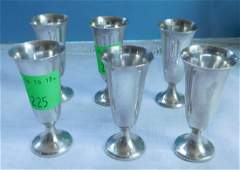 Set of Six Sterling Cordials