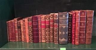 Shelf Lot Leatherbound Books