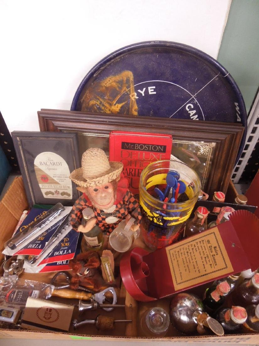 Large Lot liquor Advertising Collectibles