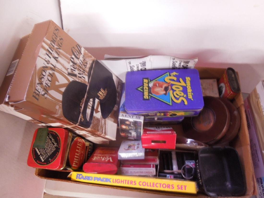 Large Lot of Tobacco Advertising Collectibles