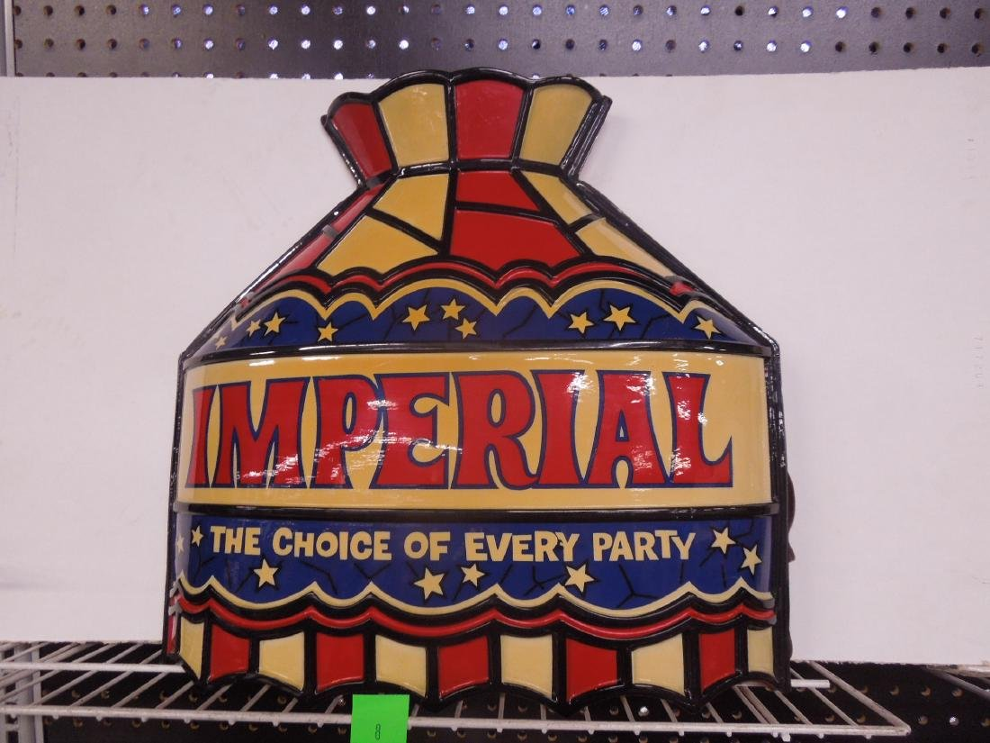 Vintage Plastic Imperial Lighted Sign
