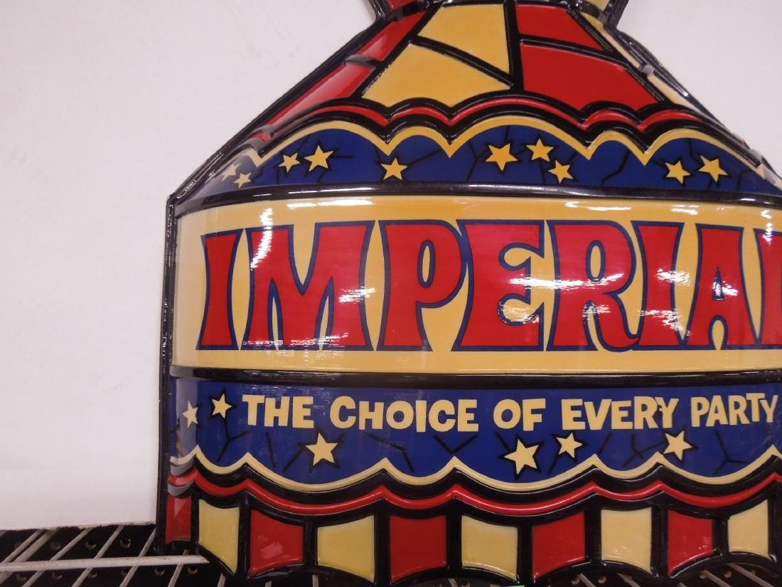 Vintage Plastic Imperial Lighted Sign - 2