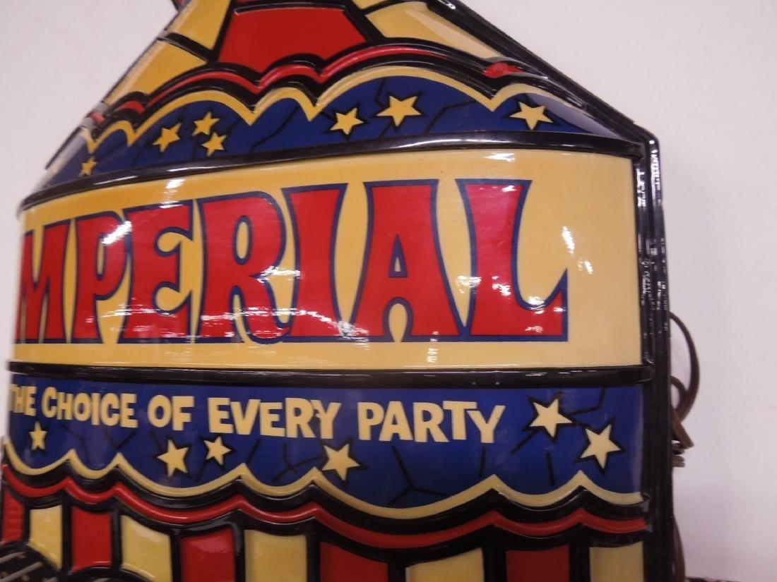 Vintage Plastic Imperial Lighted Sign - 3