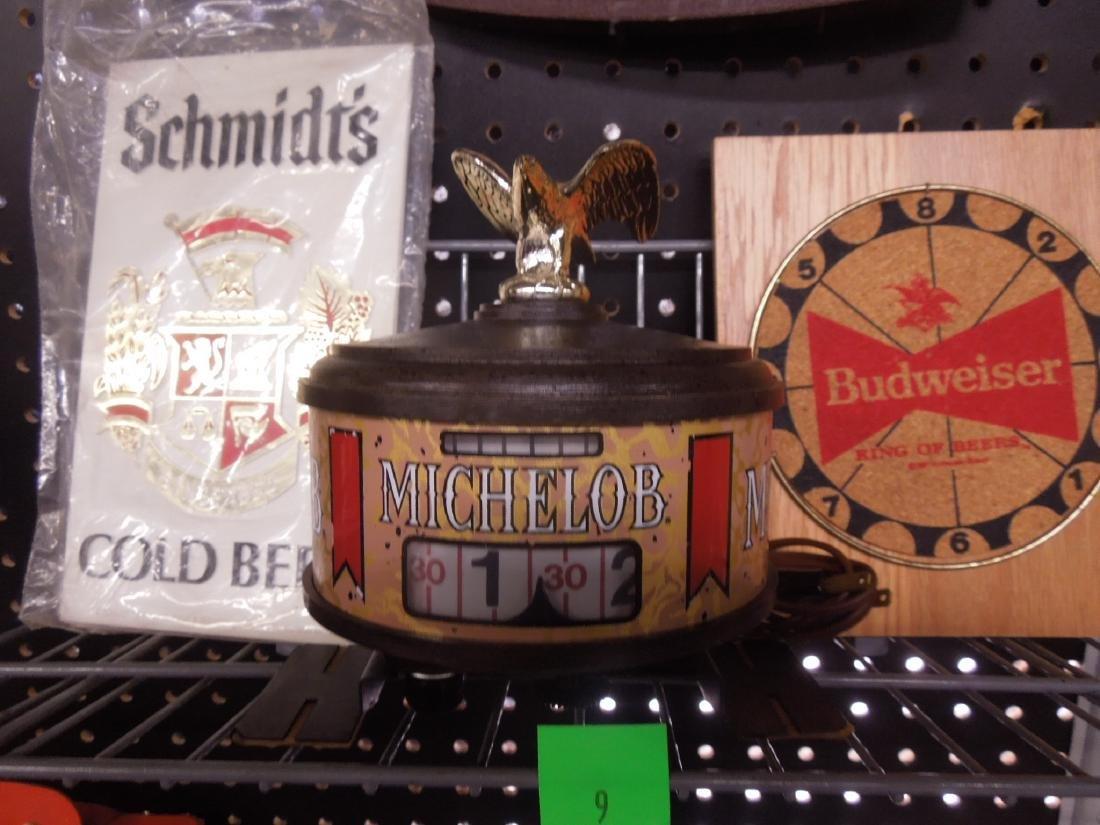 Vintage Beer Advertisement Signs & Clock - 2