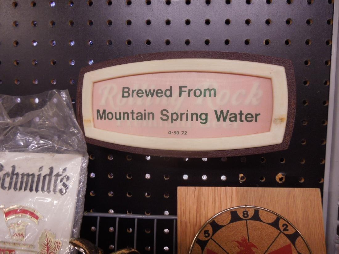 Vintage Beer Advertisement Signs & Clock - 4