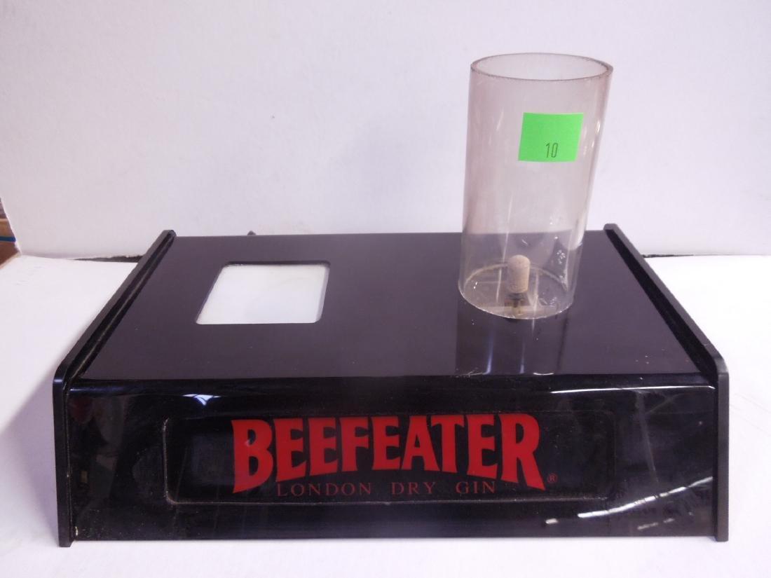 Vintage Beefeater Lighted Bottle Display