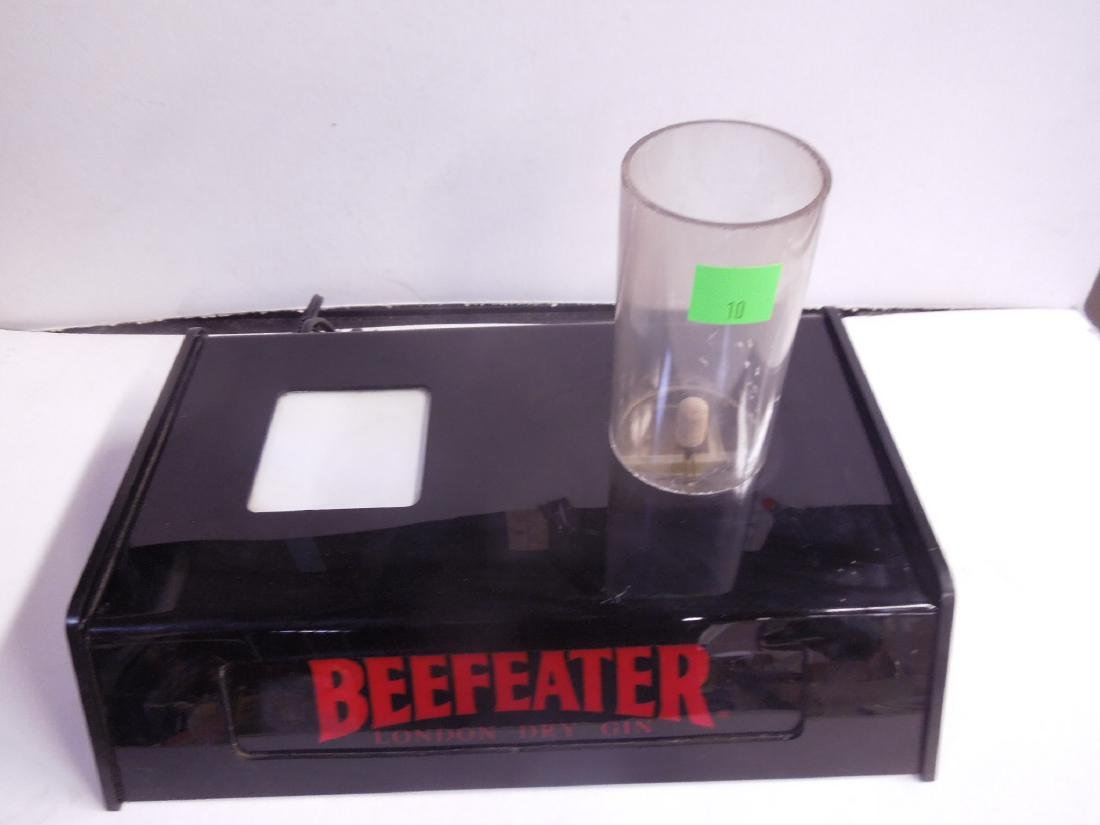 Vintage Beefeater Lighted Bottle Display - 2
