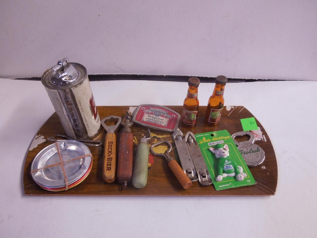 Assorted Beer Advertising Items