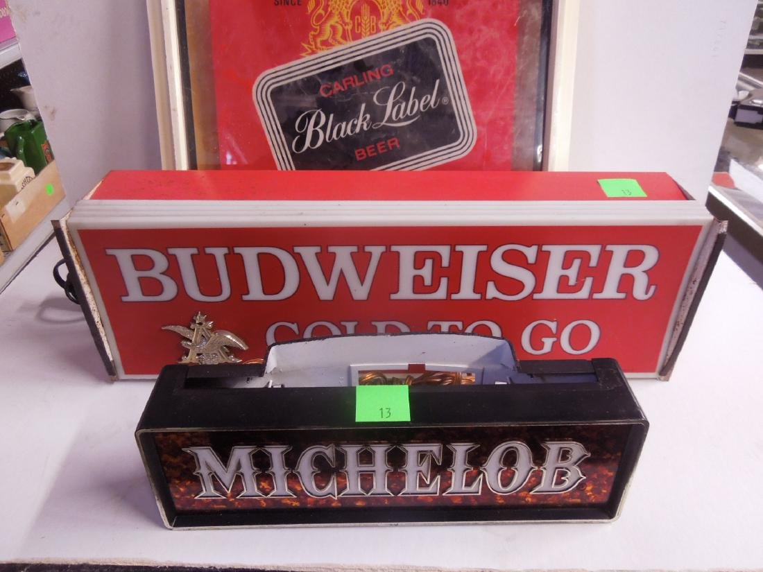 2 Lighted Beer Signs & Other - 2
