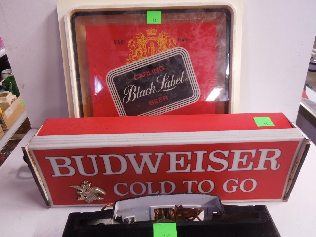 2 Lighted Beer Signs & Other - 4
