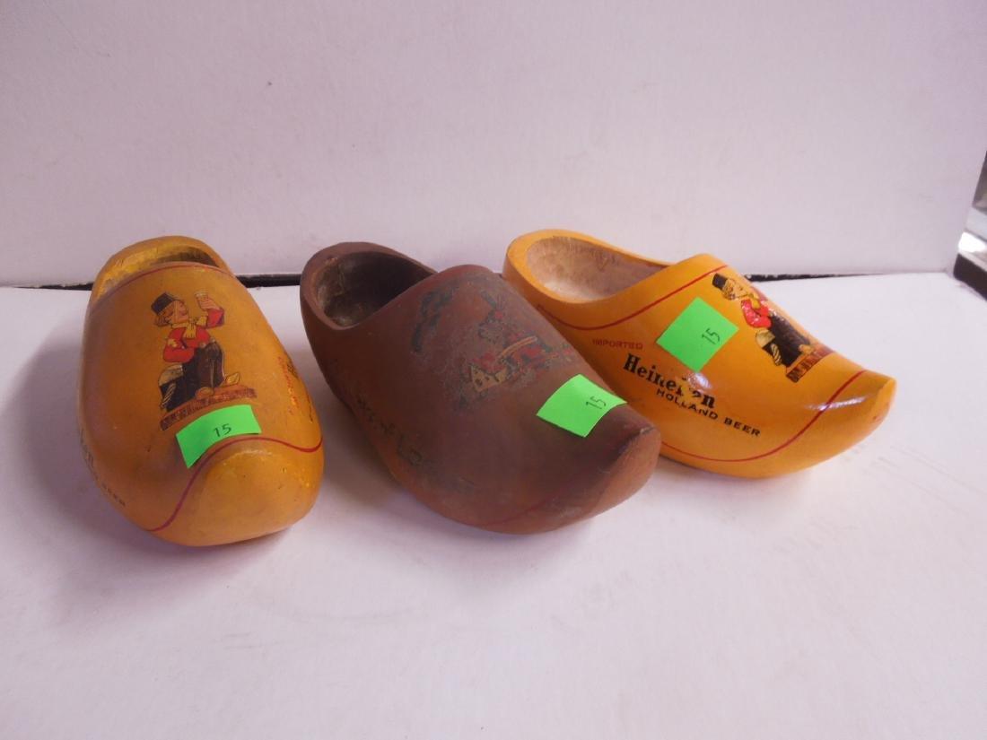 3 Heineken Dutch Wood Shoe Displays