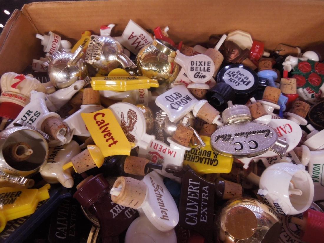 Lot Vintage Plastic Liquor Bottle Pourers - 2