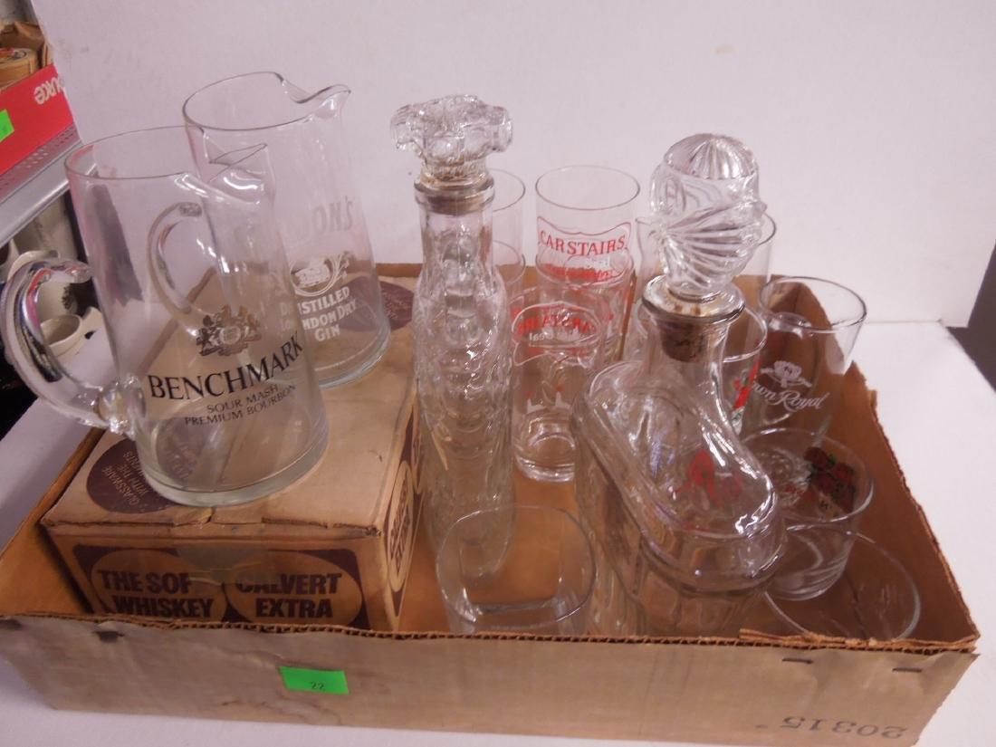 Assorted Liquor Advertising Glasses