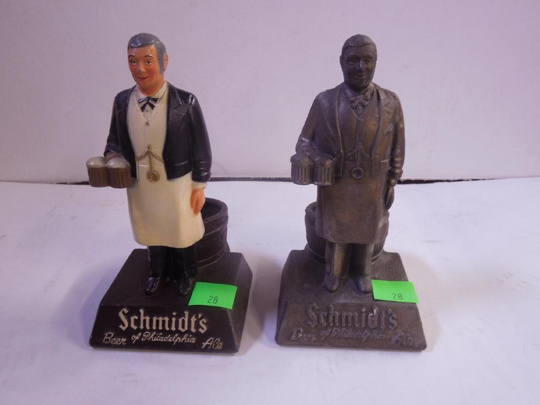 2 Schmidt's Metal Bottle Display Figures