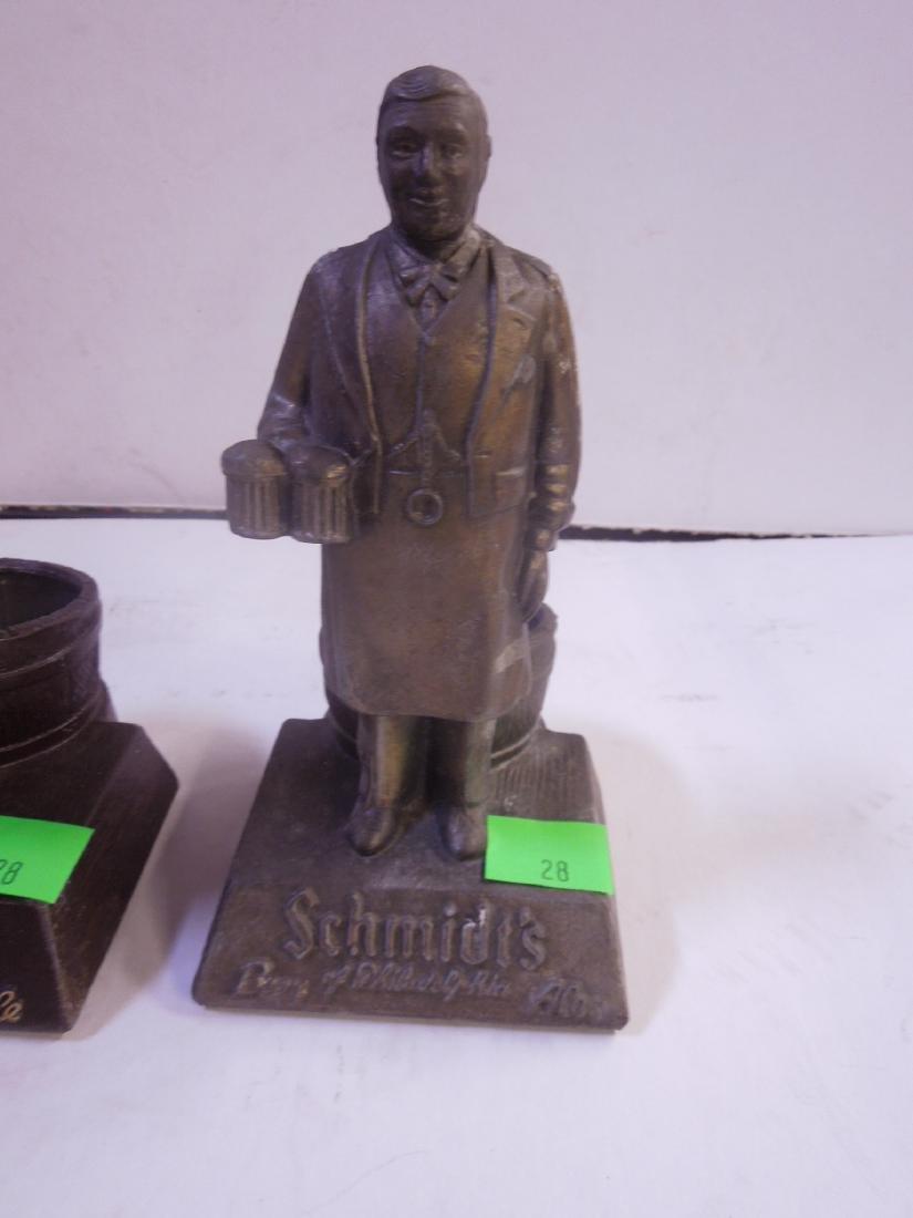 2 Schmidt's Metal Bottle Display Figures - 2