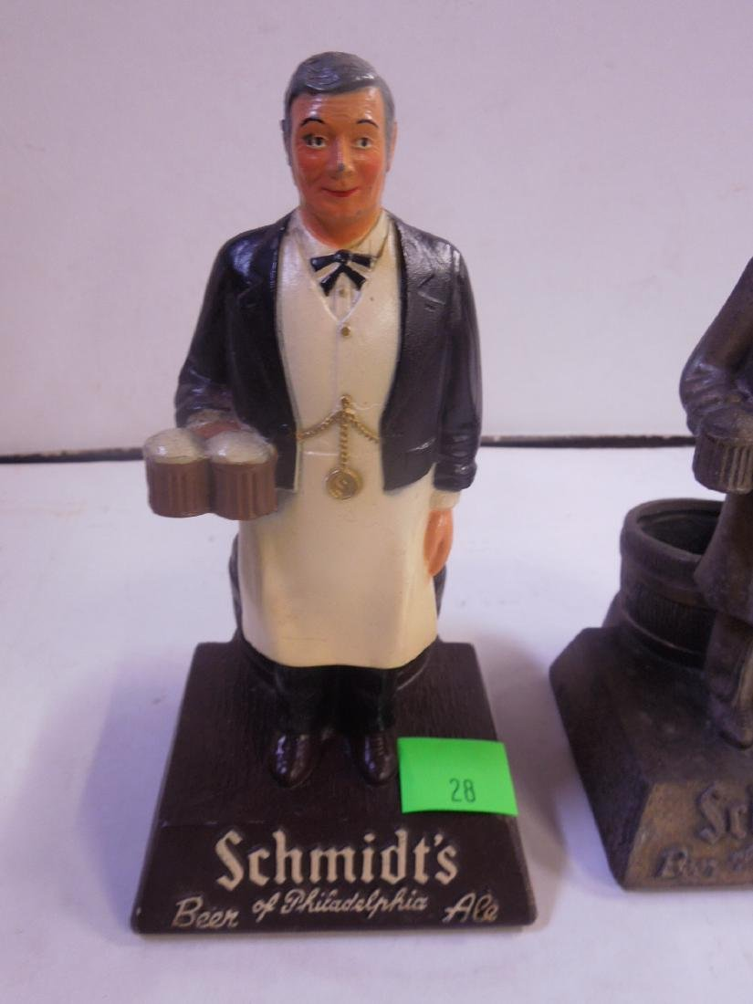 2 Schmidt's Metal Bottle Display Figures - 3