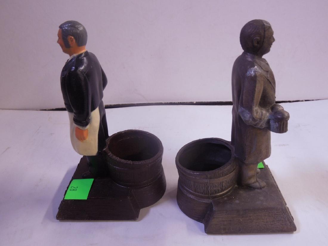 2 Schmidt's Metal Bottle Display Figures - 4