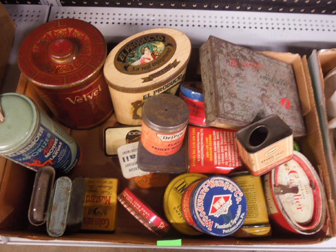 Lot of Assorted Vintage Advertising Tins