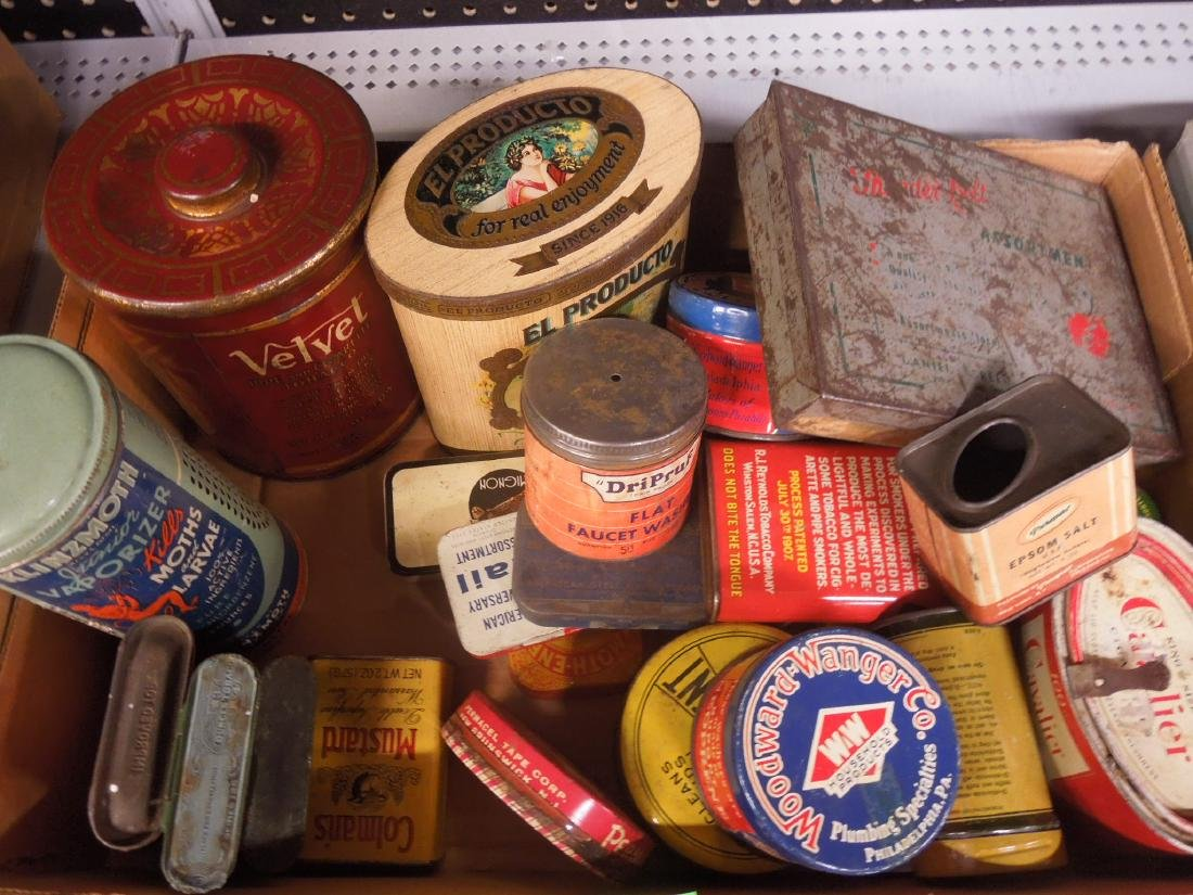 Lot of Assorted Vintage Advertising Tins - 2
