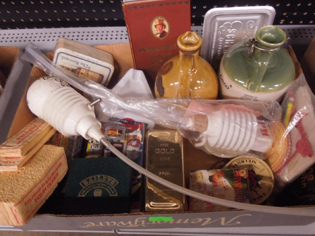 Lot Assorted Liquor Advertising Collectibles