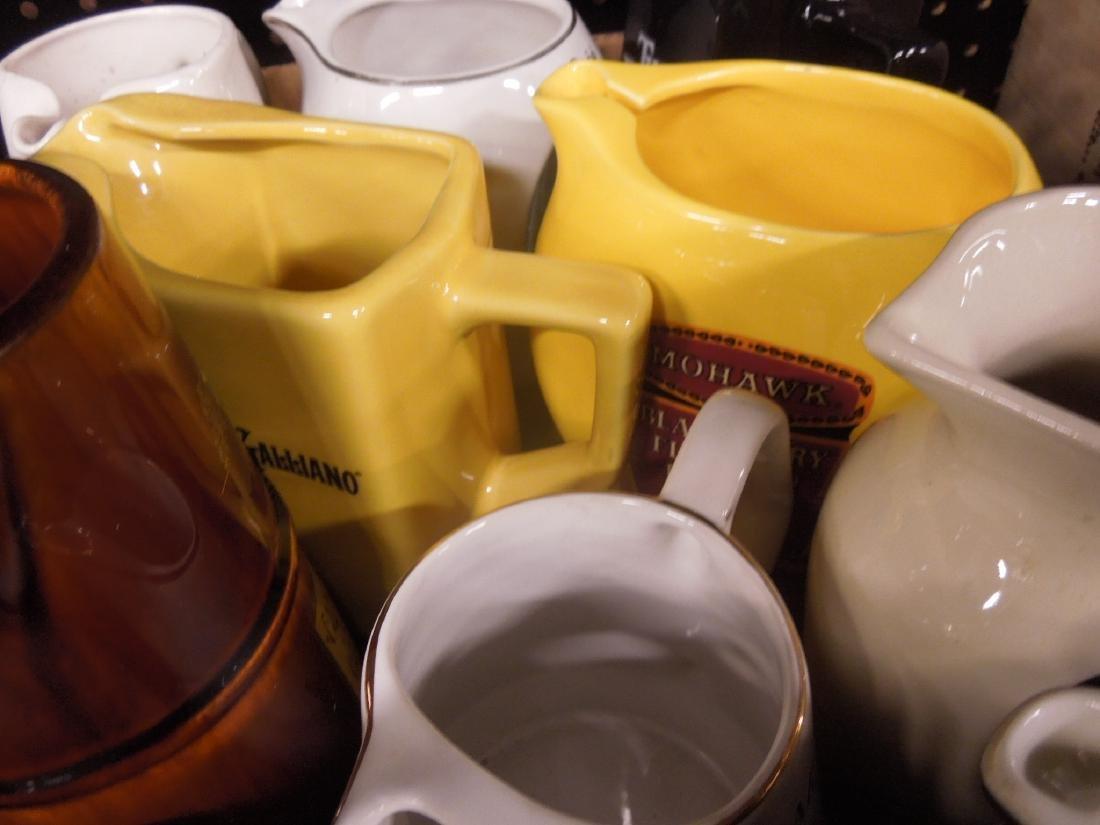 10 Porcelain Liquor Advertising Pitchers - 2