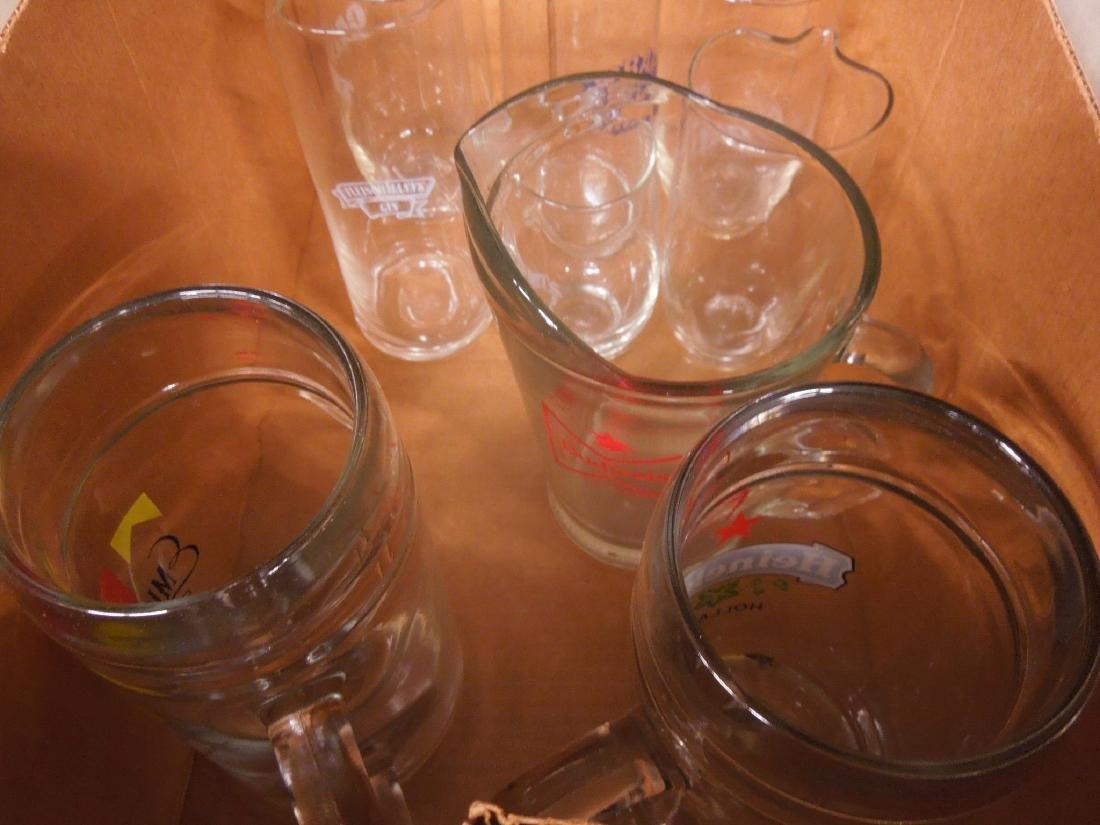 Lot of Glass Alcohol Advertising Pitchers & Mugs - 2
