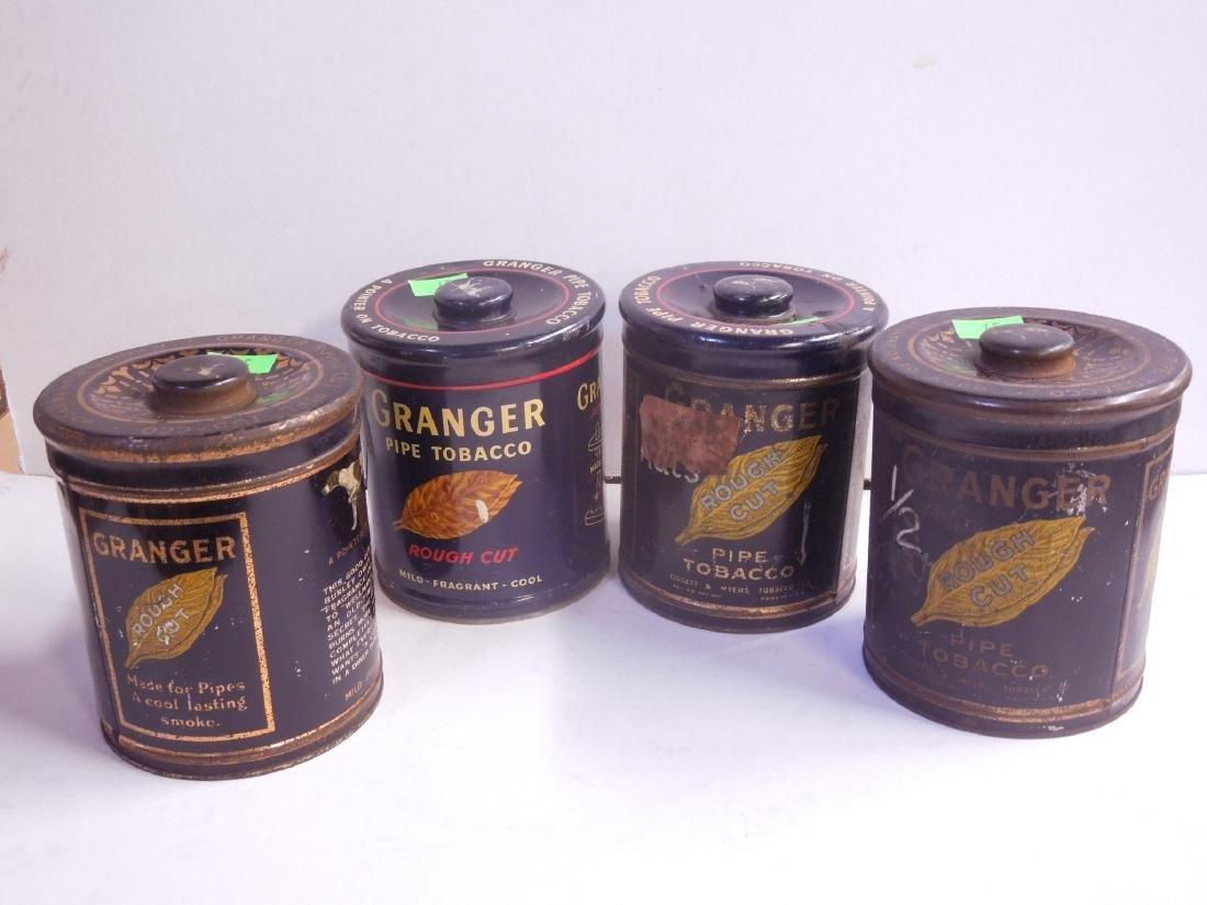 4 Vintage Granger Pipe Tobacco Tins
