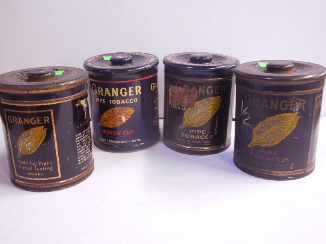 4 Vintage Granger Pipe Tobacco Tins - 2