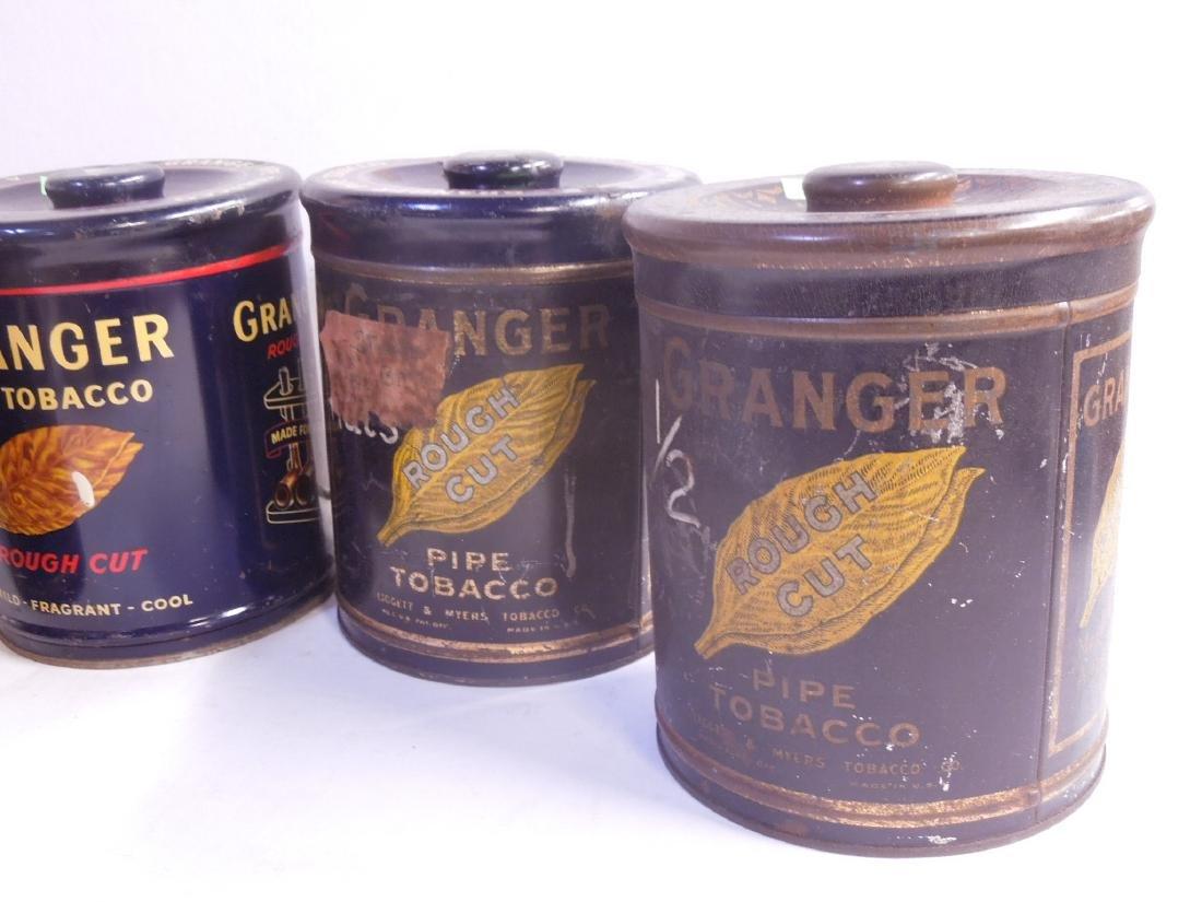 4 Vintage Granger Pipe Tobacco Tins - 4