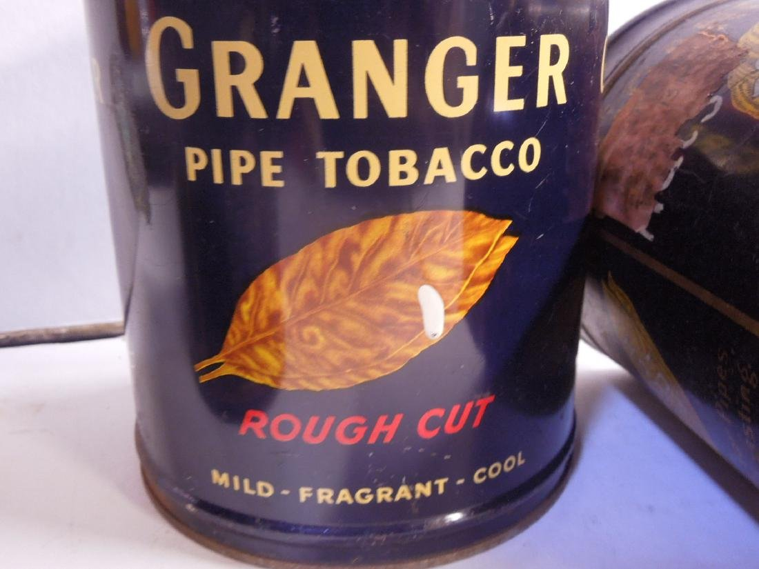 4 Vintage Granger Pipe Tobacco Tins - 7