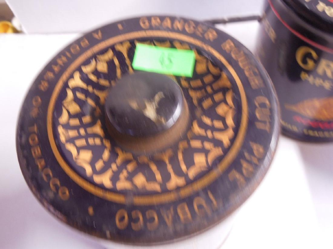 4 Vintage Granger Pipe Tobacco Tins - 8